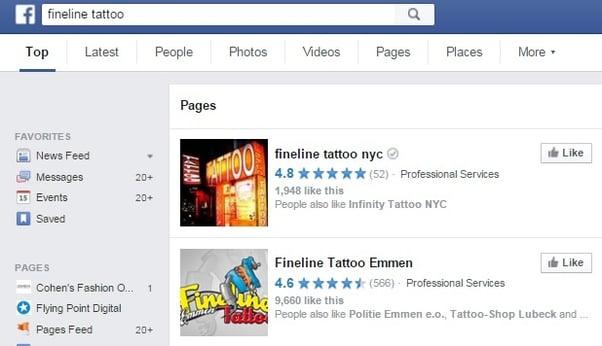Fineline Tattoo FB
