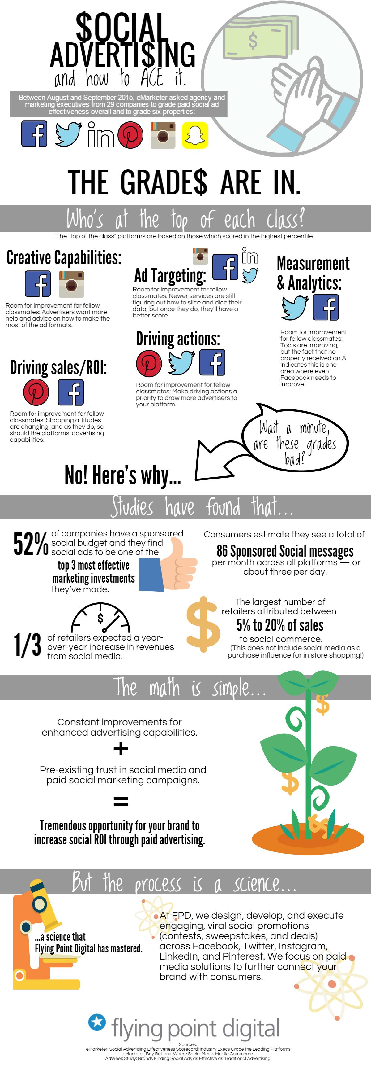 Social ROI Advertising Infographic